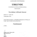 Physiotherapie Zertifikat 01