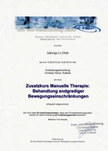 Physiotherapie Zertifikat 02